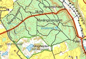 Karta över Skogshejdan